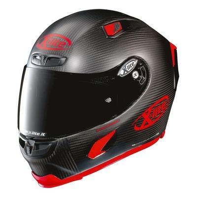 Casque intégral X-Lite X803 Ultra Carbon Puro Sport Mat rouge/carbone