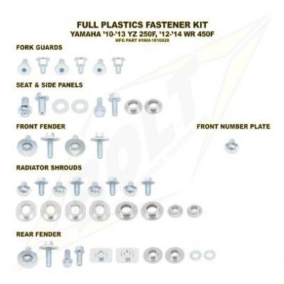 Kit visserie complet de plastiques Bolt pour Yamaha YZ 250 F 10-13