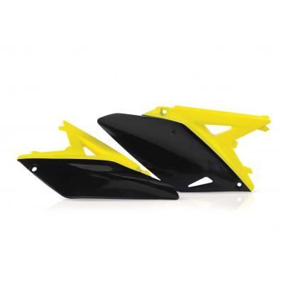 Plaques numéro latérales Acerbis Suzuki 250 RMZ 10-17 jaune/noir (paire)