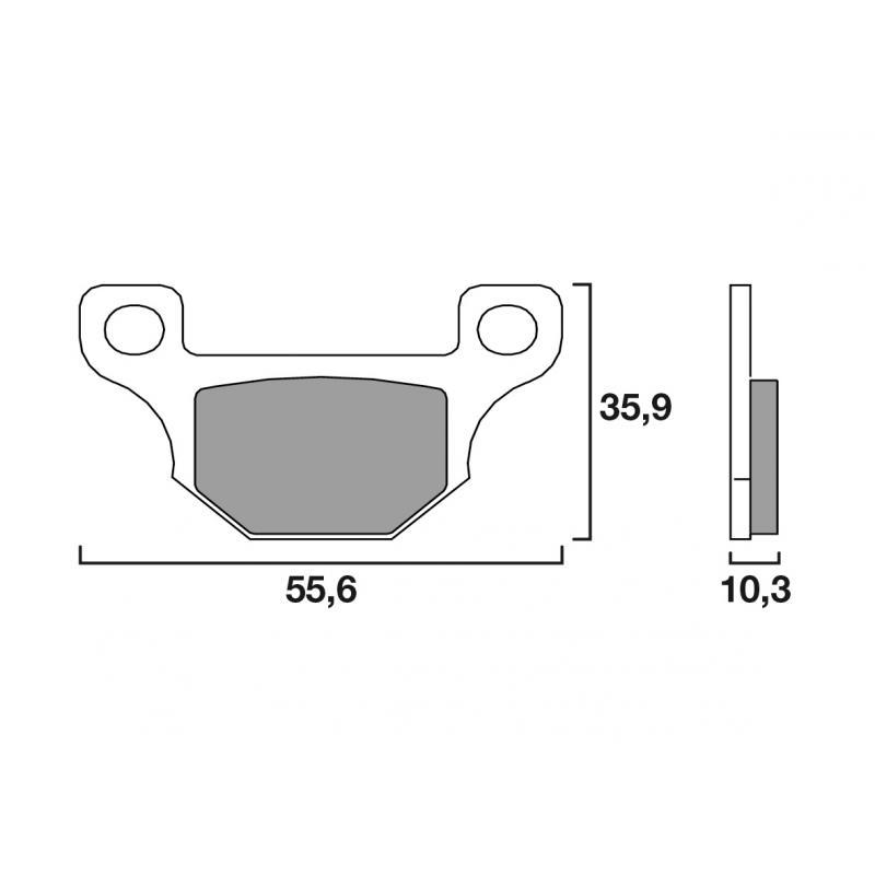 Plaquettes de frein Brembo carbone-céramique 07GR09CC Rieju MRT 50 SM 09-18
