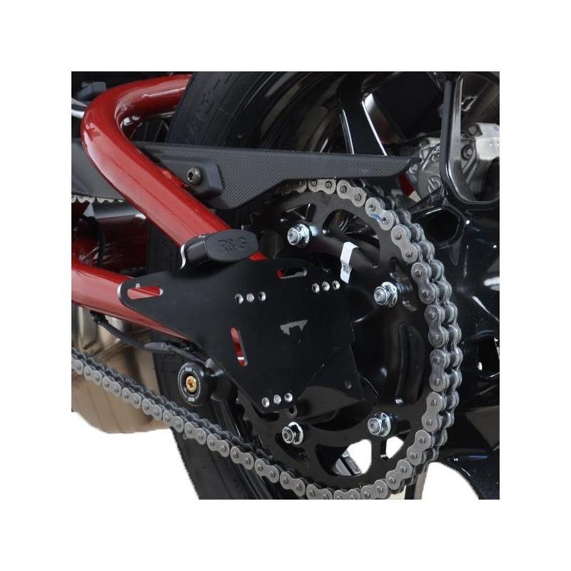 Support de plaque d'immatriculation R&G Racing noir Indian FTR 1200 19-20