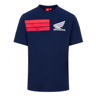 Tee-shirt Honda Racing Collection HRC 3 Stripes bleu/rouge