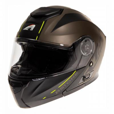 Casque modulable Astone RT900 Stripe noir mat/jaune