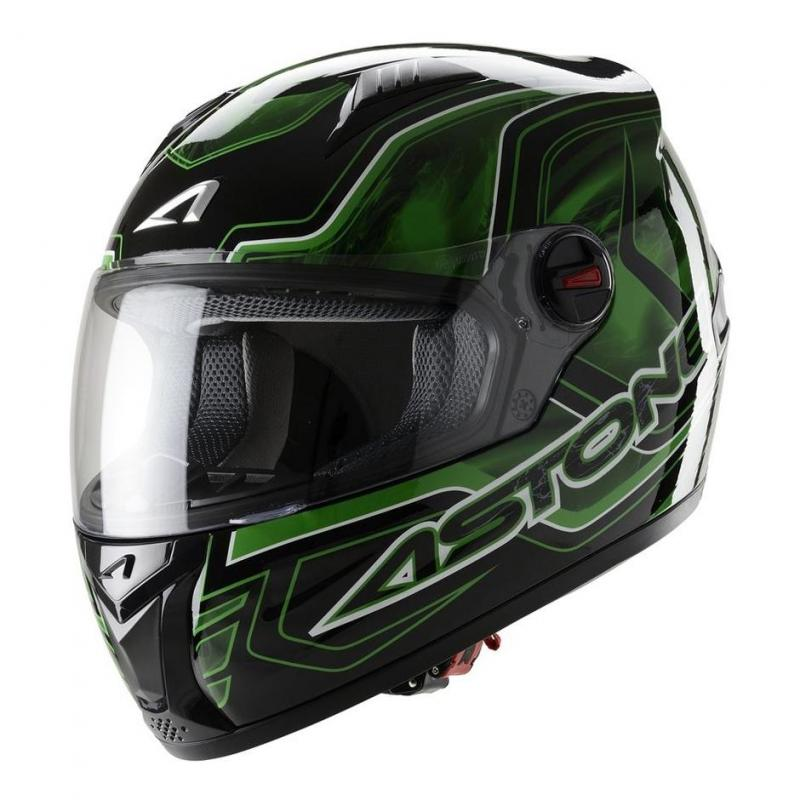 Casque Intégral Astone Gt Graphic Exclusive Burning vert