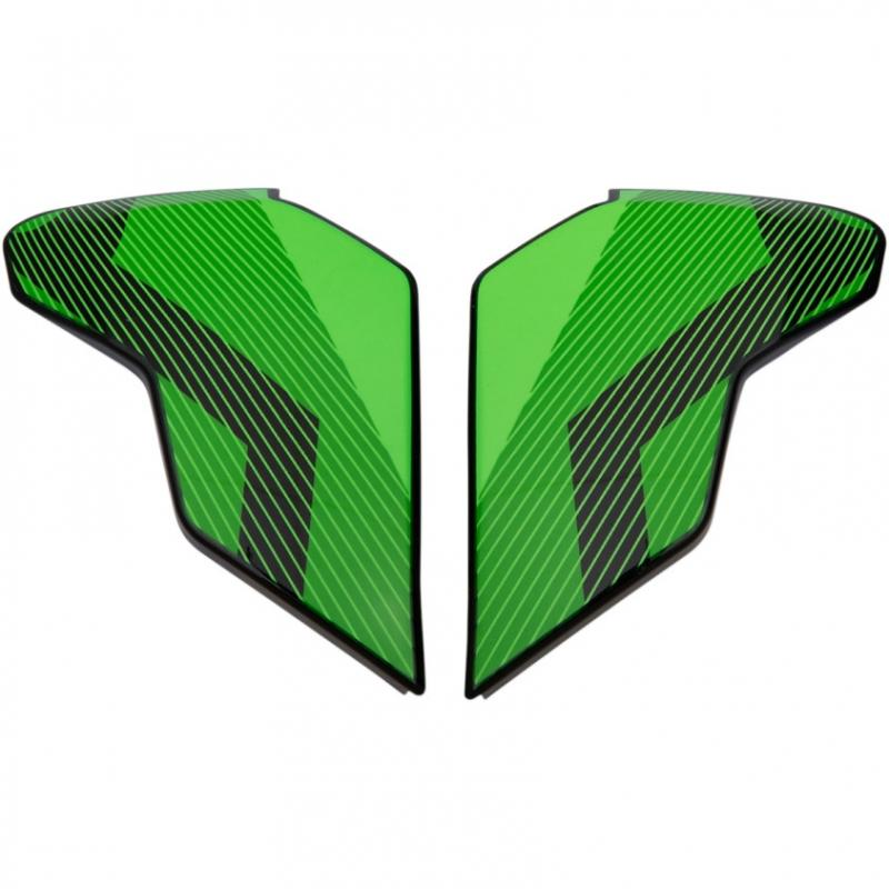 Plaques latérales Icon pour casque Airflite QB1 vert