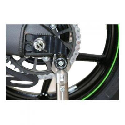 Diabolos de bras oscillant R&G Racing noir sur platine Yamaha YZF-R 125 08-18