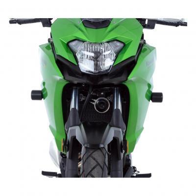Tampons de protection R&G Racing Aero noir Kawasaki H2 SX 2018