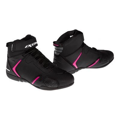 Basket moto femme Ixon Gambler WP noir/fushia