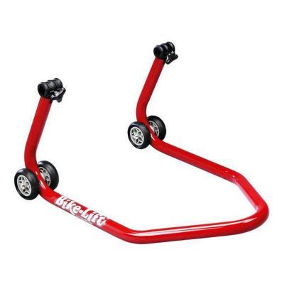 Béquille arrière rouge Bike Lift RS-17 avec supports en V