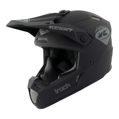 Casque cross Kenny Track Solid noir