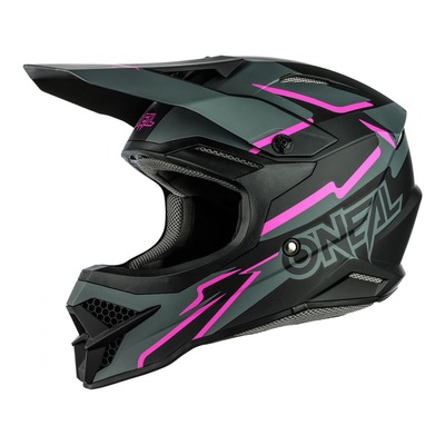 Casque cross O'Neal 3SRS Voltage noir/rose