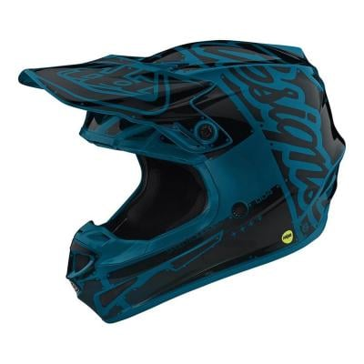 Casque cross Troy Lee Designs SE4 Polyacrylite Factory ocean