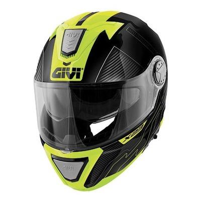 Casque modulable Givi X.23 Sydney Protect noir/tinane/jaune fluo