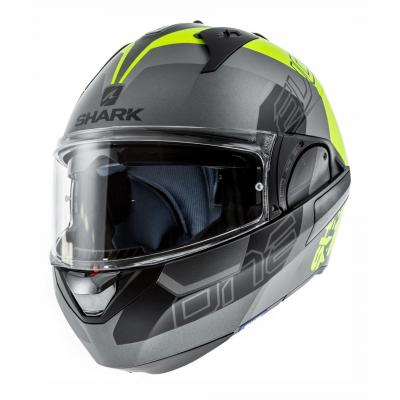 Casque modulable Shark EVO-ONE 2 SLASHER MAT anthracite/jaune fluo/noir