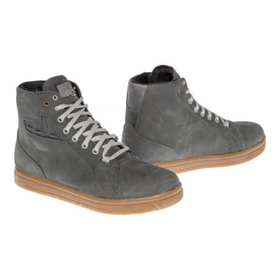 Chaussure moto cuir TCX Street Ace WP gris/naturel rubber