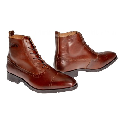Chaussures moto Helstons Heroes Cuir Aniline marron ciré
