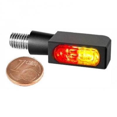 Clignotant LED Heinz Bikes Blokk-Line SMD Micro noir avec feu arrière et feu stop intégrés