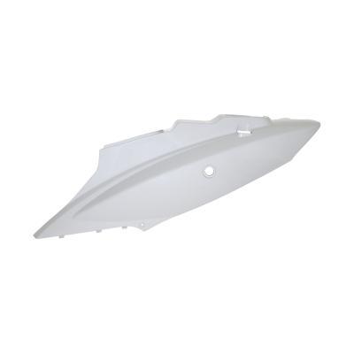 Coque arrière gauche blanche brillante adaptable Kymco 50 agility