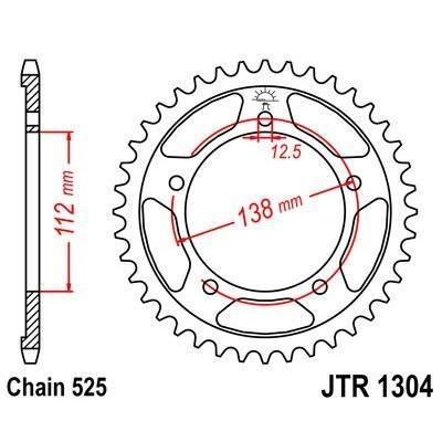 Couronne JT Sprockets Acier pas 525 43 dents - Pour Honda CBF 600 N 04-07