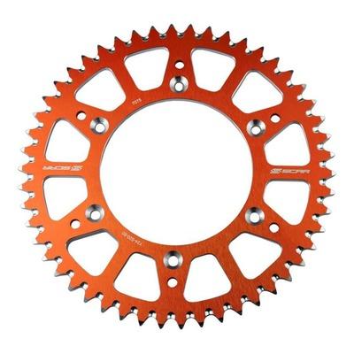 Couronne Scar Ultra-light anti-boue 48 dents pas 420 KTM 65 SX 98-21 orange