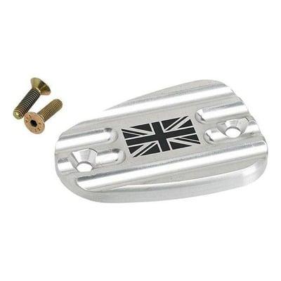 Couvercle de maître cylindre de frein AV Joker Machine Union Jack poli Triumph Thruxton 1200 16-20