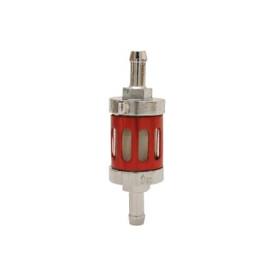 Filtre a essence Replay cylindrique ajouré alu rouge