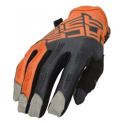 Gants cross Acerbis MX X-H orange/gris