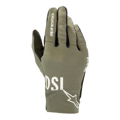 Gants textile Diesel/Alpinestars AS-DSL Shotaro militaire vert