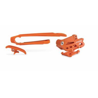 Guide de chaîne et patin de chaîne Acerbis KTM EXC/EXCF 12-16 orange