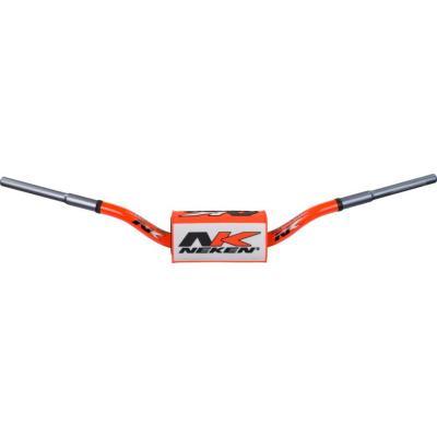 Guidon à diamètre variable Neken SFH Design Conique 133C orange fluo/blanc