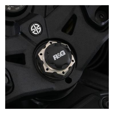Insert écrou de direction R&G Racing noir Kawasaki Ninja H2 SX 18-20