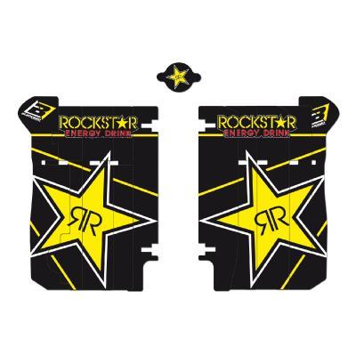 Kit déco de radiateur Blackbird Racing Rockstar Energy Honda CRF 450R 17-19 noir/jaune