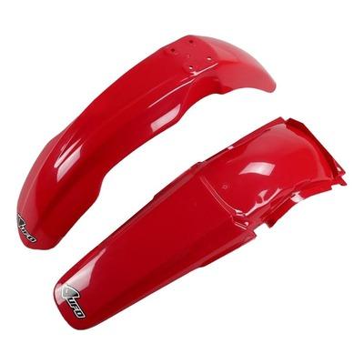 Kit garde-boue avant et arrière UFO Honda CR 125R 04-07 rouge (couleur origine)