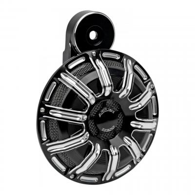 Klaxon Arlen Ness gauge Harley Davidson 110 dB noir