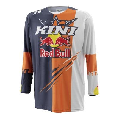 Maillot cross Kini Red Bull Competition orange/blanc/bleu