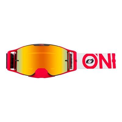 Masque cross O'Neal B-30 Bold noir/rouge – écran iridium rouge