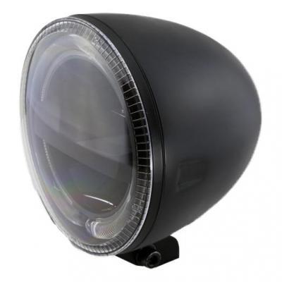 Phare LED Highsider Circle fixation inférieure noir