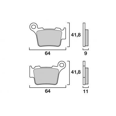 Plaquettes de frein d'origine Brembo métal fritté 07BB275A