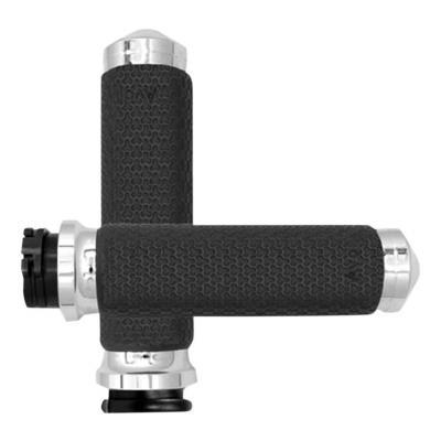 Poignées Avon Ø 35mm mémoire de formes tirage par câble embout arrondies Twin-Cam 99-17 chrome