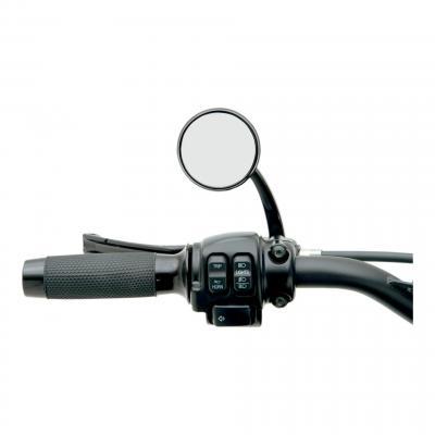 Rétroviseur Todd's Cycle shooter rond Ø 6,4 cm gauche Harley Davidson (seul) noir