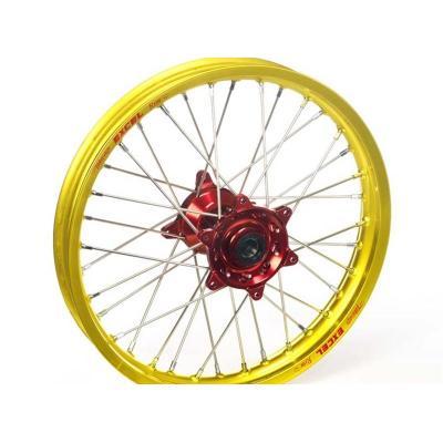 Roue avant Haan Wheels/Excel 21x1,60 Suzuki 450 RM-Z 05-18 jaune/rouge