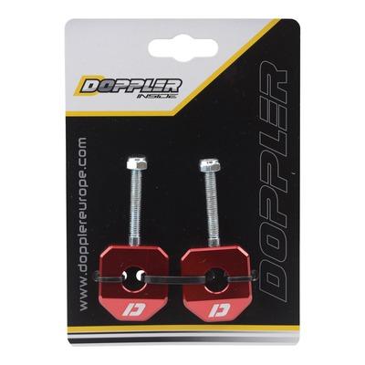 Tendeurs de chaîne alu rouge Doppler pour Derbi Senda / SMT / RCR