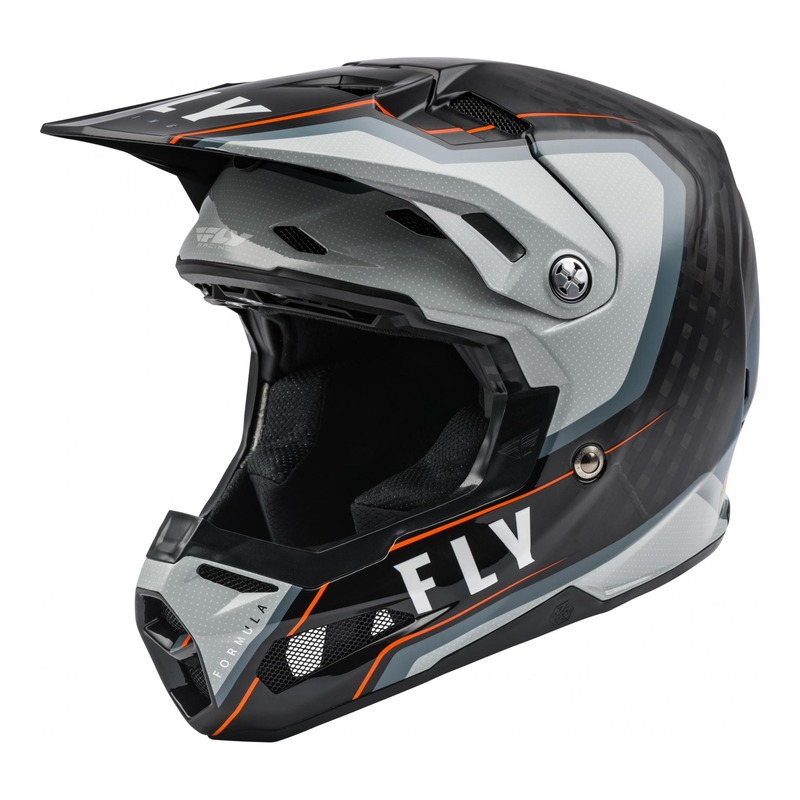 Casque cross Fly Racing Formula Carbone Axon noir/gris/orange