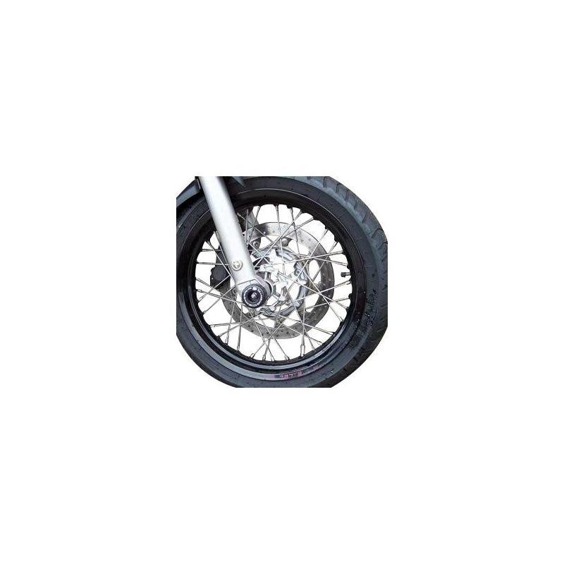 Tampons de protection de fourche R&G Racing noirs Benelli TNT 1130 Trek 06-17