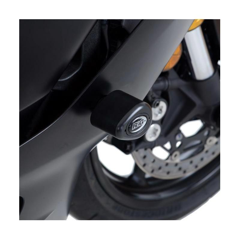 Tampons de protection R&G Racing Aero noir Yamaha YZF-R6 17-18