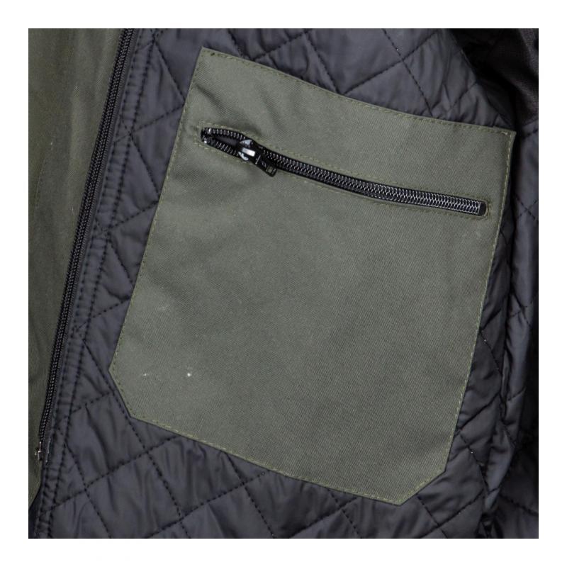 Blouson textile Helstons Cobra kaki/blanc - 5