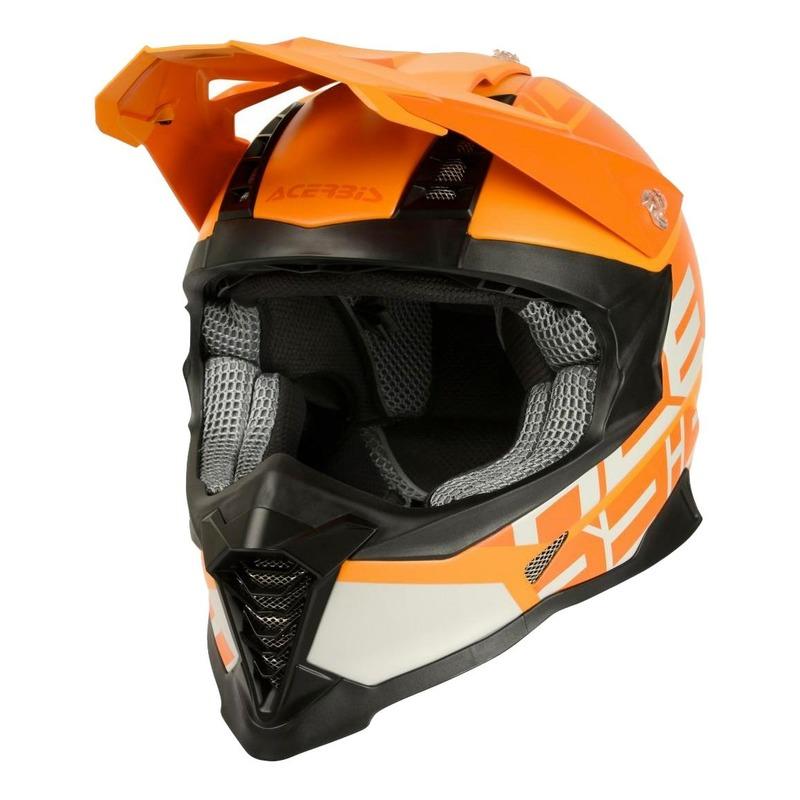 Casque cross Acerbis Impact X-Racer VTR orange/orange/beige mat