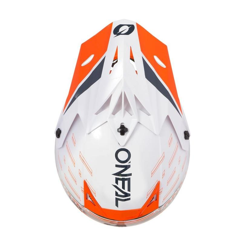 Casque cross O'Neal 5SRS Trace blanc/orange - 2