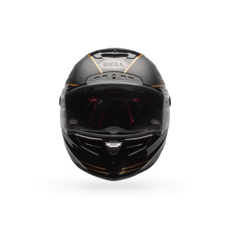 Casque intégral Bell Race Star Speed Check noir mat/or - 2