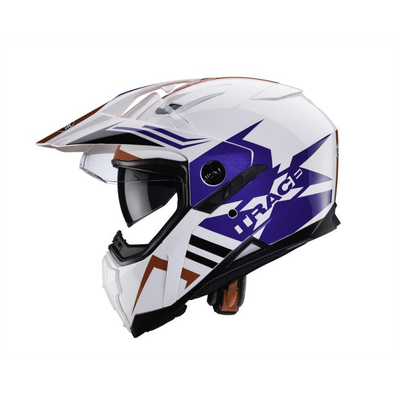 Casque intégral Caberg XTRACE LUX blanc/bleu/rouge - 3